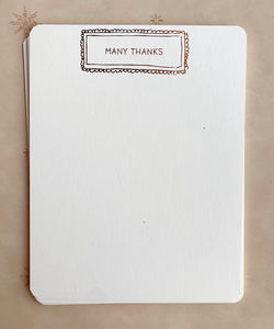 """Many Thanks"" Framed Thank You Stationery Set - PARCEL"