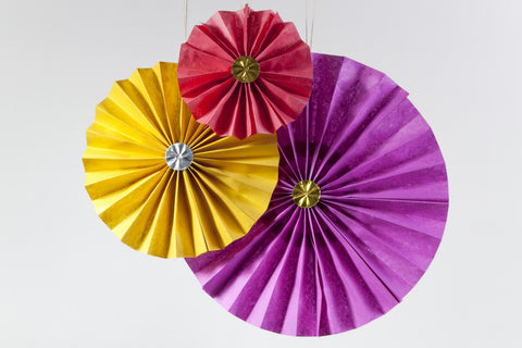 Paper Fan Ornaments