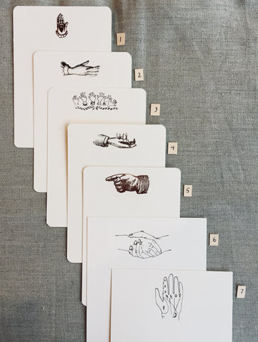 Foil-pressed Hands Notecards