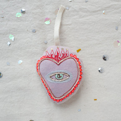 Sacred Heart Ornament by Skippy Cotton