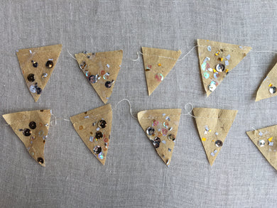Parcel Metallic Confetti Garland: MADE TO ORDER - PARCEL