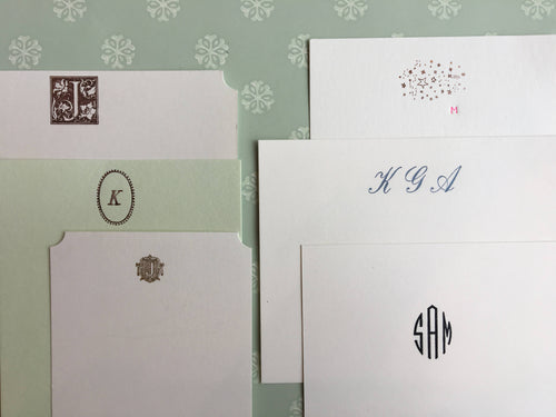 MADE TO ORDER: Parcel Custom Foil-pressed Stationery, Monogram Stationery, Bespoke - PARCEL
