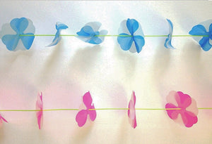 Parcel Vintage Clover Garland; READY TO SHIP; Blue or Pink - PARCEL