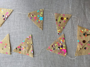 Parcel Bright Confetti Garland; Made to order - PARCEL