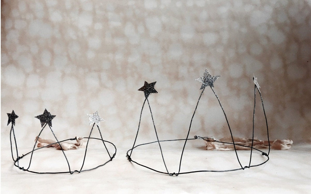 Handmade Wire Crown Form with stars, MADE TO ORDER - PARCEL