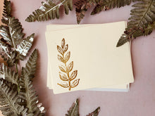 Load image into Gallery viewer, Foil Pressed Notes, Ferns - PARCEL