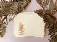 Load image into Gallery viewer, Foil Pressed Paper Fern - PARCEL