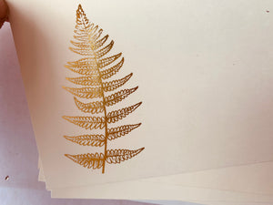 Foil Pressed Notes, Flower Stem - PARCEL