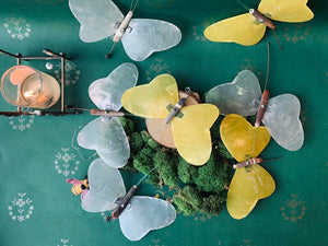Vintage Abalone Shell Butterflies - PARCEL