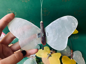 Vintage Abalone Shell Butterflies