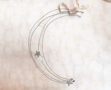 Load image into Gallery viewer, Handmade wire moon ornament - PARCEL