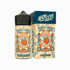 RECKLESS - Outcast Orange 100ml-Freebase Ejuices-RECKLESS-3mg-Vapemall NZ
