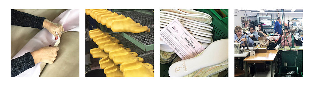 Sole Bliss shoes for bunions factory production