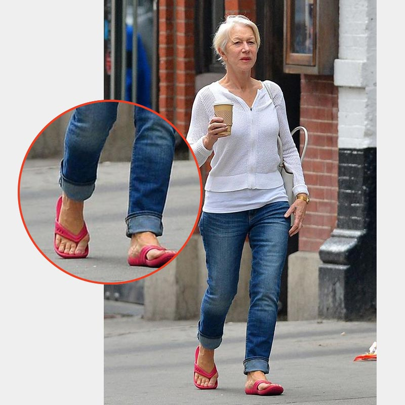 Silver Screen Icon, Helen Mirren with Bunions