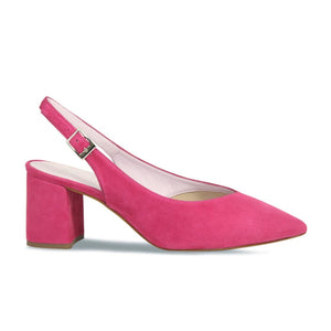 Pink Suede Block Heeled Shoes for Bunions