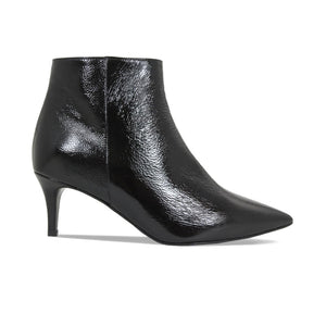 Slim Heeled Black Patent Ankle Boots for Bunions