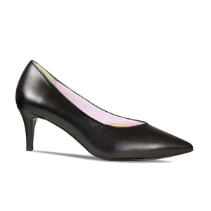 Black Leather Workwear Pumps for Bunion Sufferers