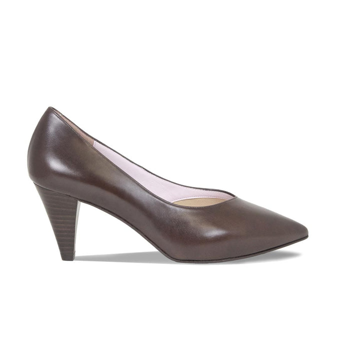 Brown Leather Best Women's Court Pumps for Bunions