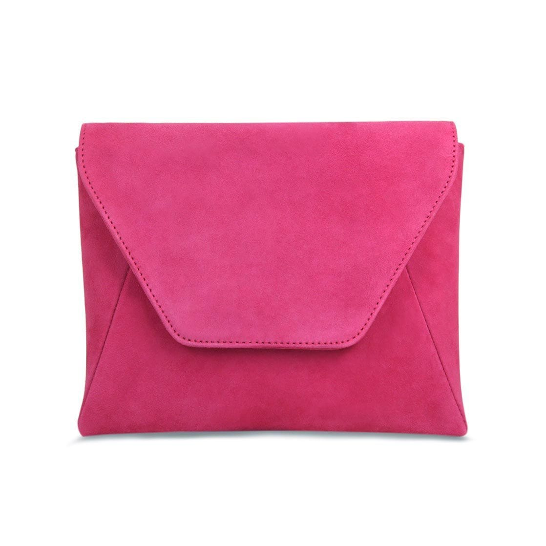 Hot Pink Suede Wallet on Chain