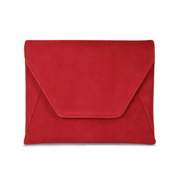 Matching Red Suede Clutch Bag by Sole Bliss