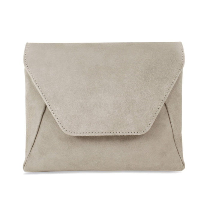 Taupe Suede Bag by Sole Bliss with Detachable Chain
