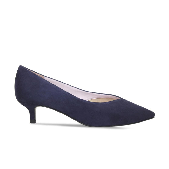 Low Heel in Navy Suede Bunion Shoes by Sole Bliss