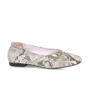 Snake Print Wide Width Ballet Flat Shoes for Bunions