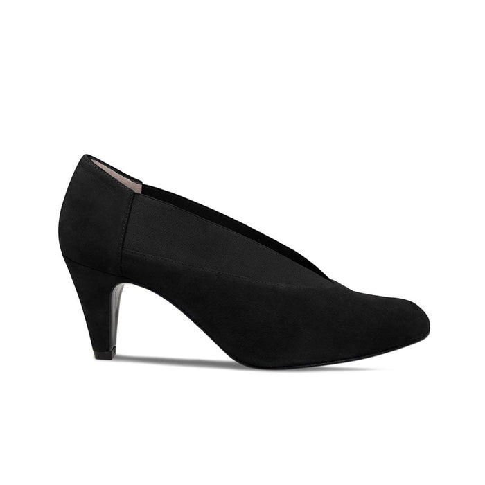 Black Suede Extra Wide Fit High Heeled Bunion Shoes
