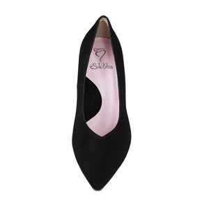 Wider width high dress pump for wide width and bunions