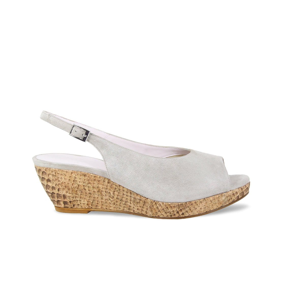 Pebble Suede Low Wedge Sandals