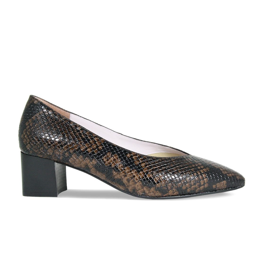 Ingrid: Brown Python Leather