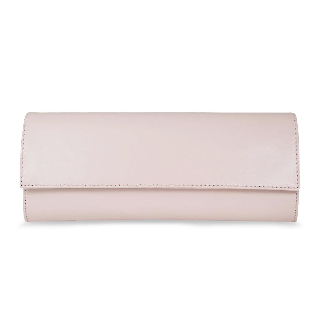 Blush Leather Wallet on Chain