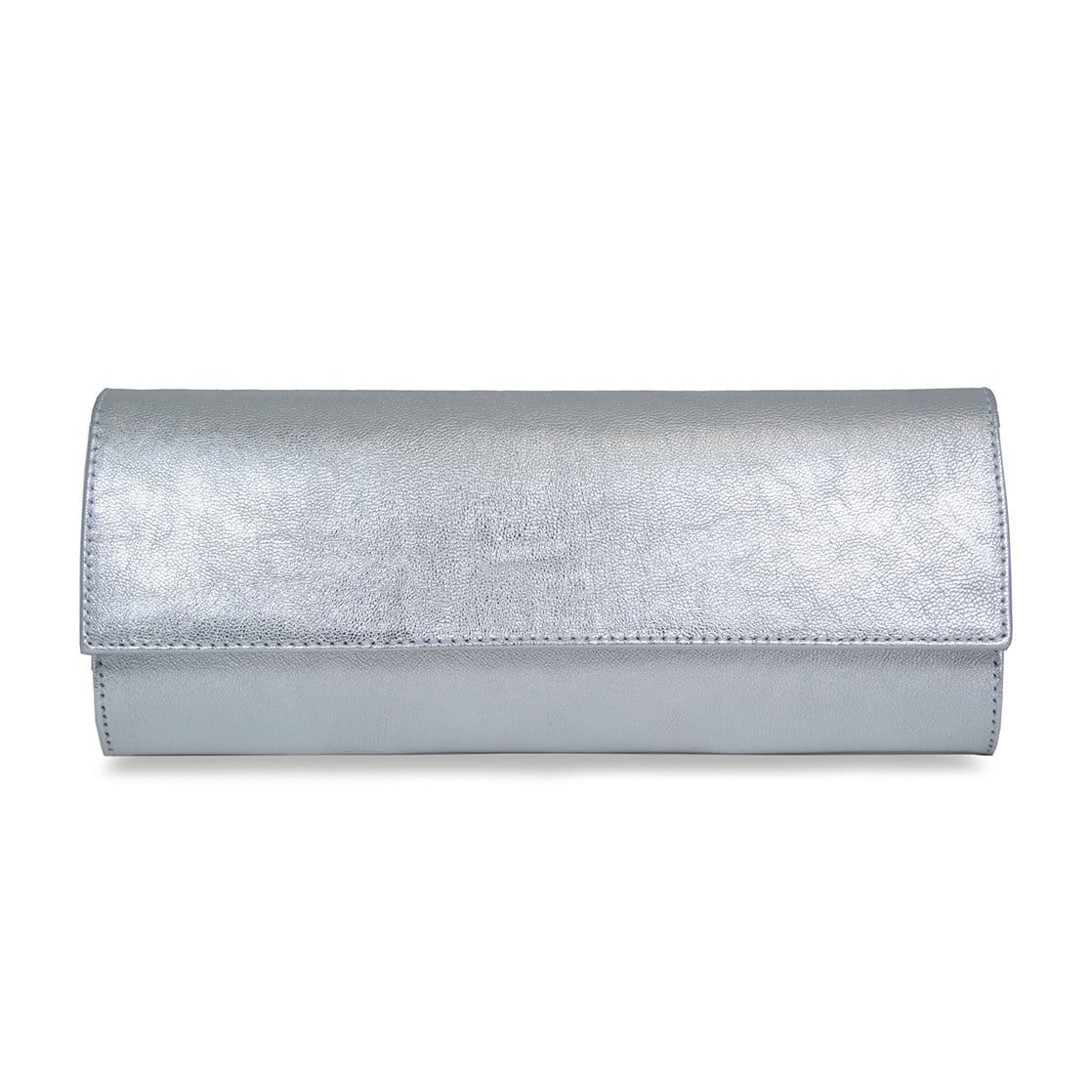 Silver Leather Wallet on Chain