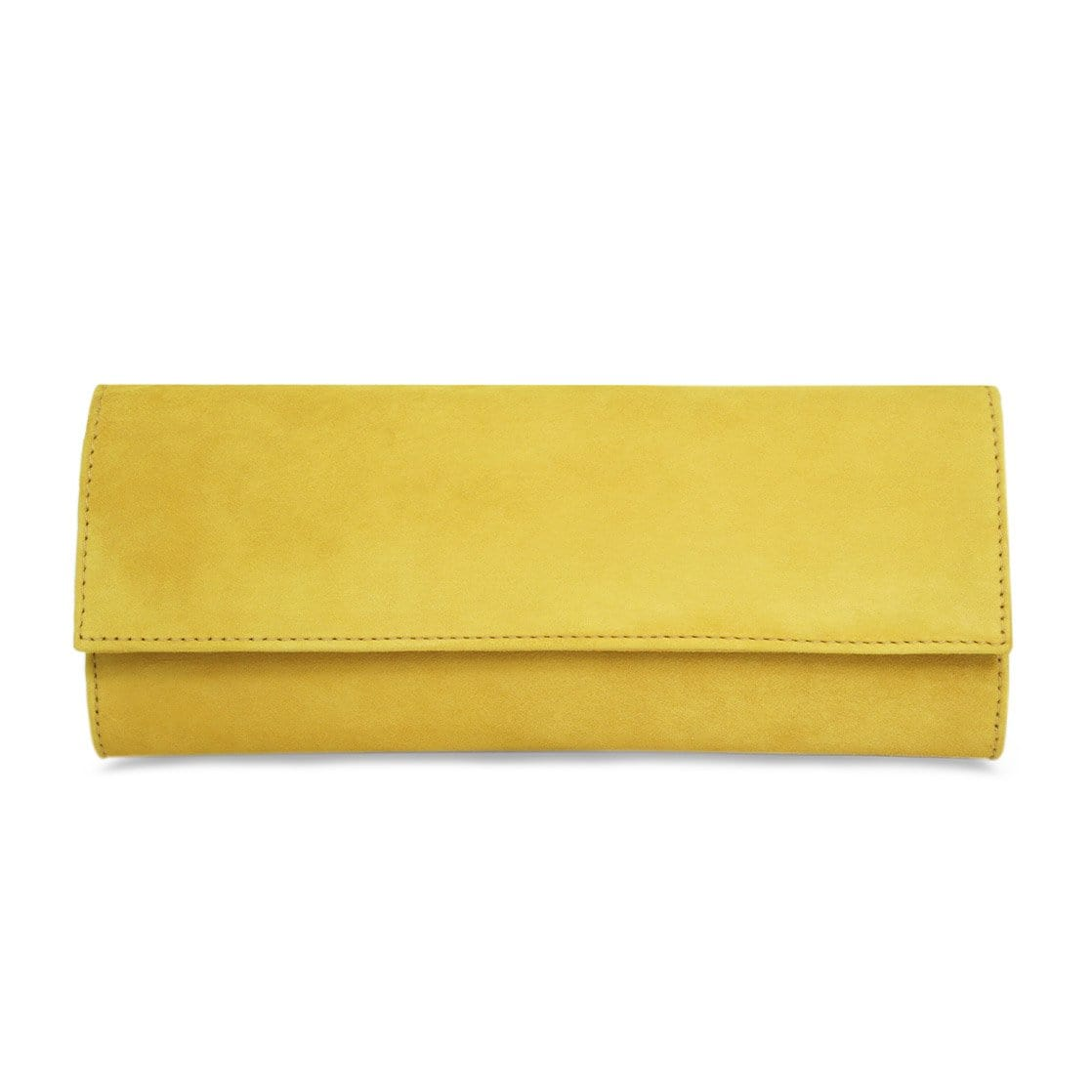 Yellow Suede Crossbody Bag