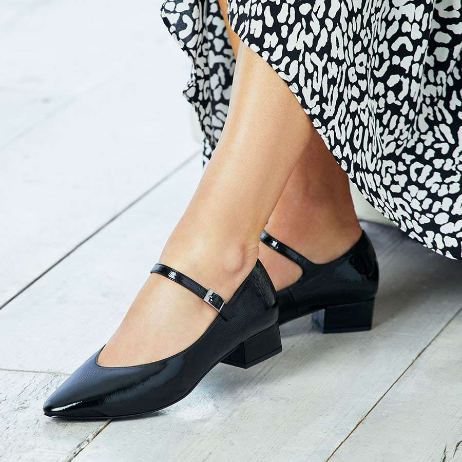 Black Patent Leather Mary-Jane Shoes