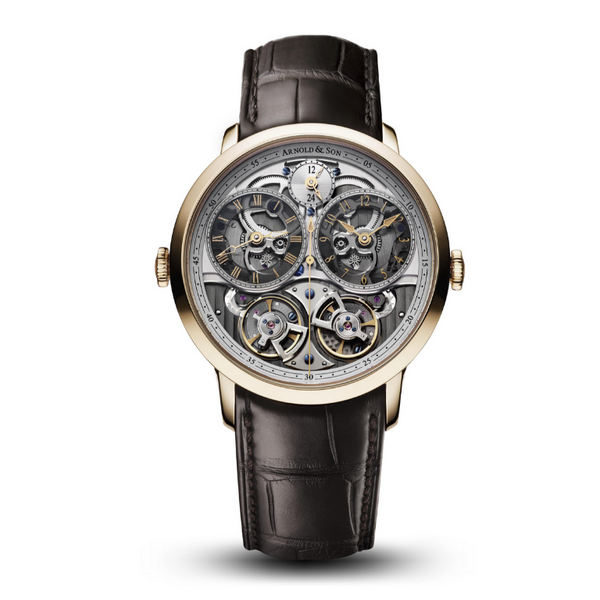 Brand New Luxury  Arnold & Son.  DGB Skeleton