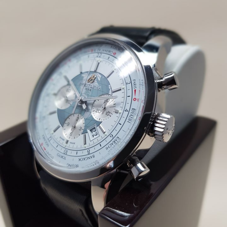 Pre-owned Luxury BREITLING Transocean Unitime