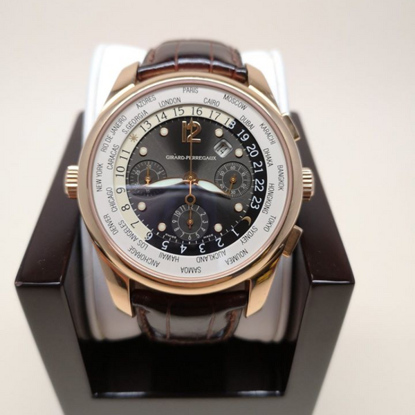 Pre-owned Luxury GIRARD PERREGAUX  WW.TC World Time