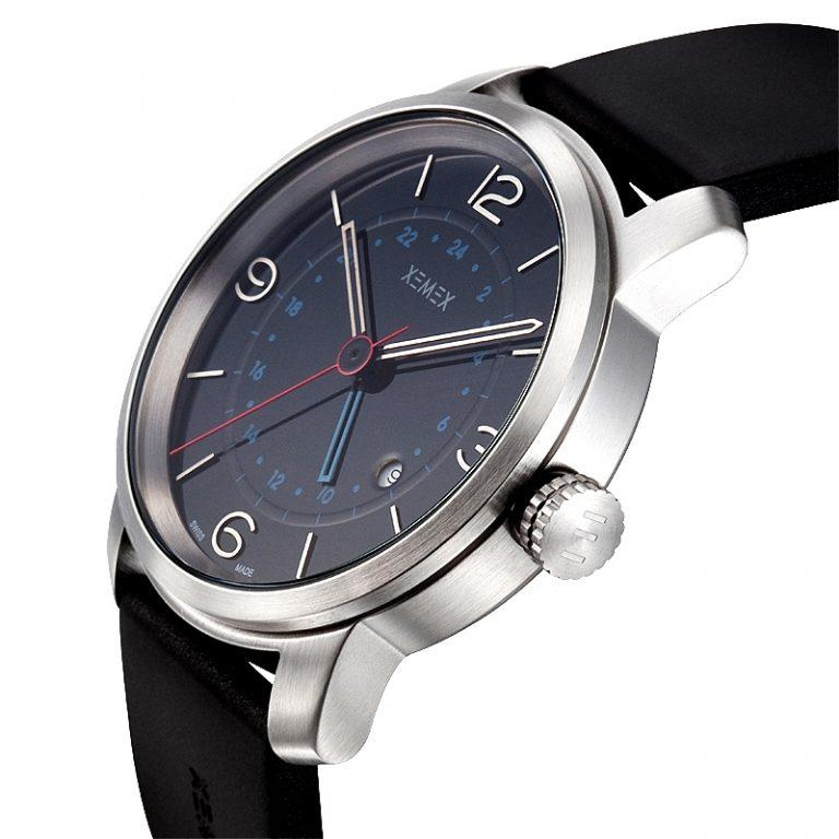 XEMEX SWISS WATCH REF. 881 GMT DUAL TIME