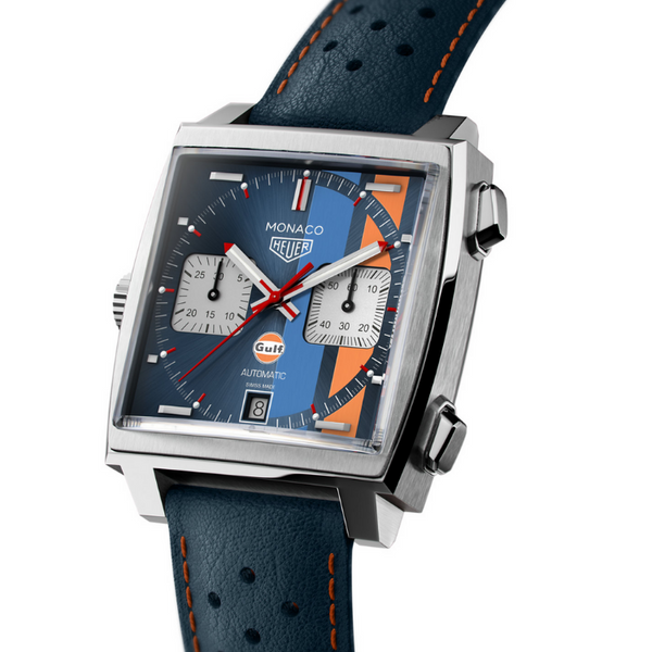 New - Luxury 	TAG HEUER Mod. MONACO Caliber 11 - GULF Special Edition