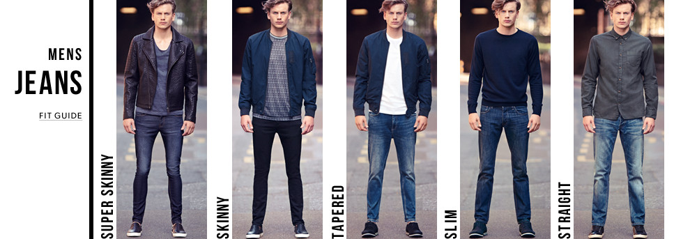 Acceptable Denim fits for Men