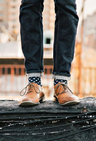 Men's socks in polka dot, trending