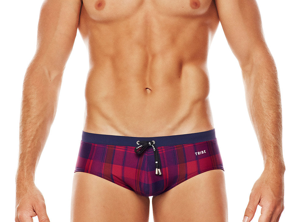 Highland Purple Plaid Boy Brief