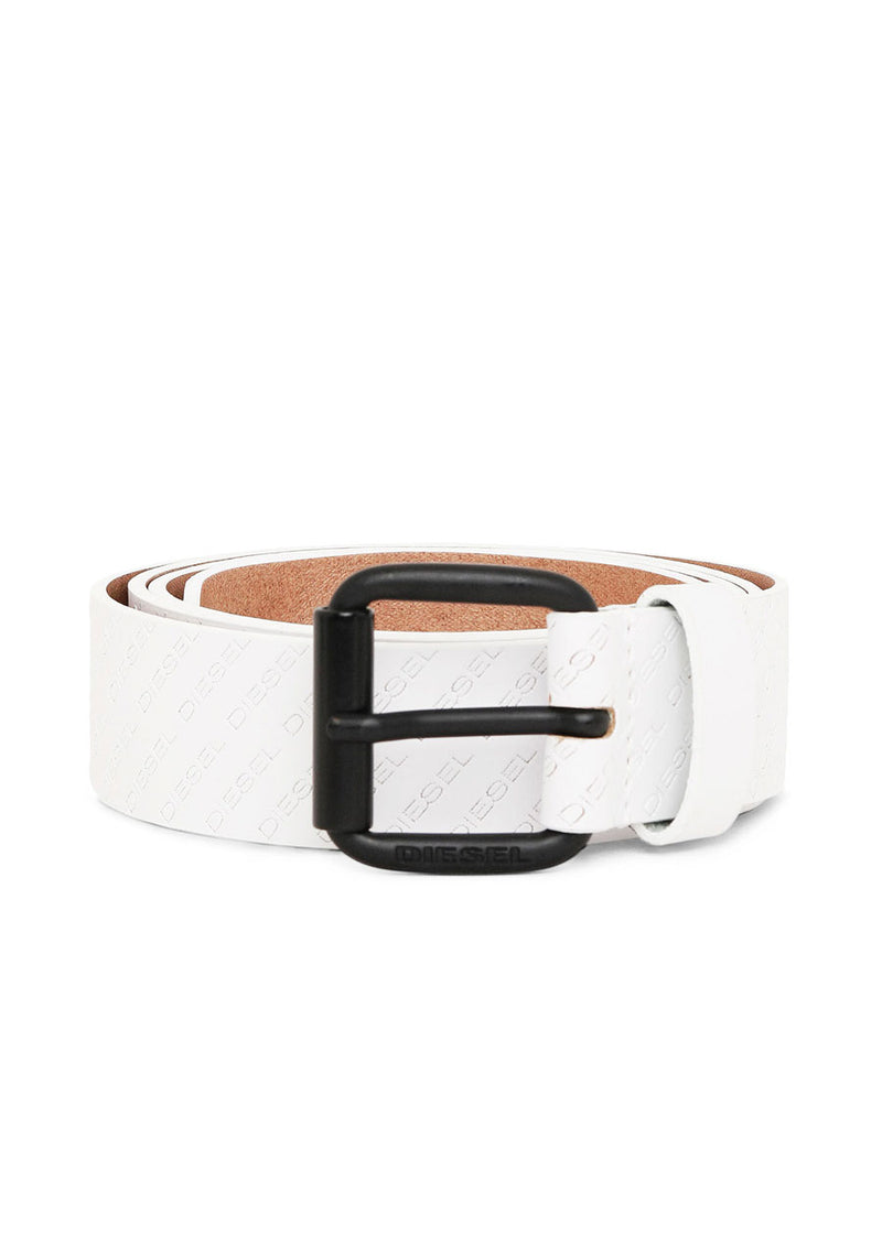 Solesino White Leather Belt