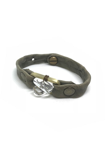 Quartz Leather Bracelet