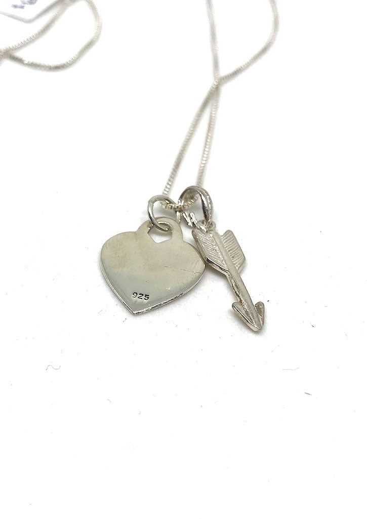 Sterling Silver Heart & Arrow Necklace