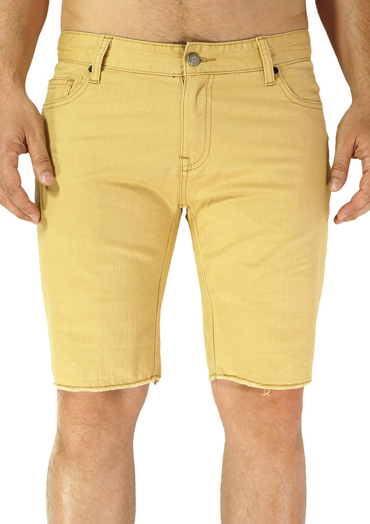 Slim Leg Cut-Off Short (Gold Khaki)