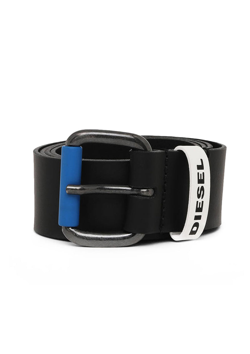 Blue Buckle Leather Belt