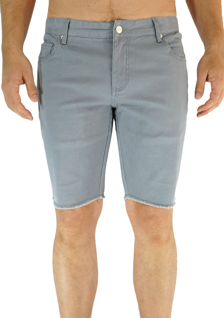 Slim Leg Cut-Off Short (Grey)