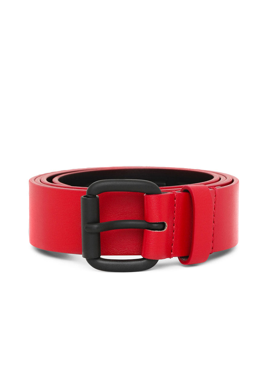 Synt Faux Leather Colored Belt (Red)